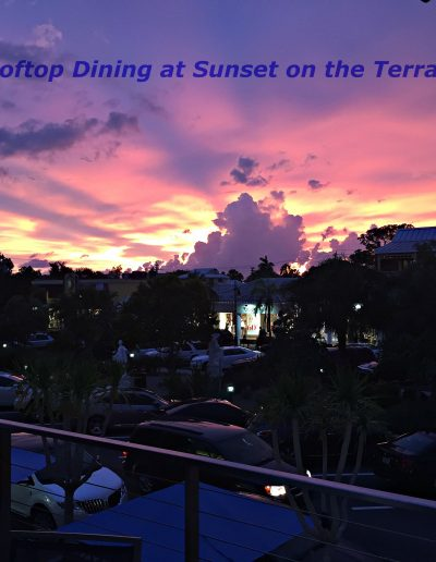 Terrace at SS Sarasota Rooftop Dining Sunset